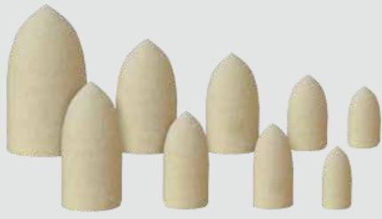 Miniatur-Polierer: Filz & Baumwolle, unmontiert