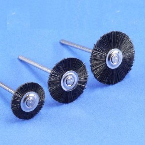 Miniaturbürste, montiert, Borste, schwarz (12er-Pack)