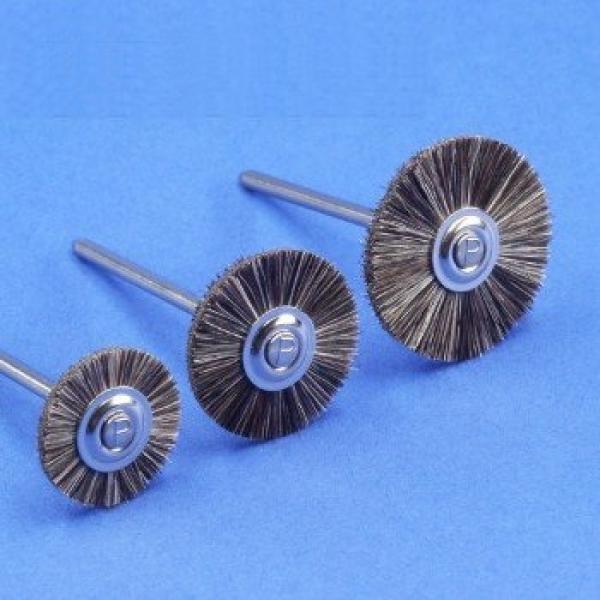 Miniaturbürste, montiert, Ziegenhaar, grau (12er-Pack)