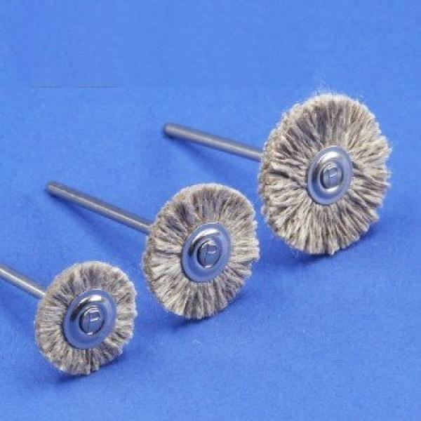 Miniaturbürsten, Leinengarn (Flachs) - (6er-Pack)