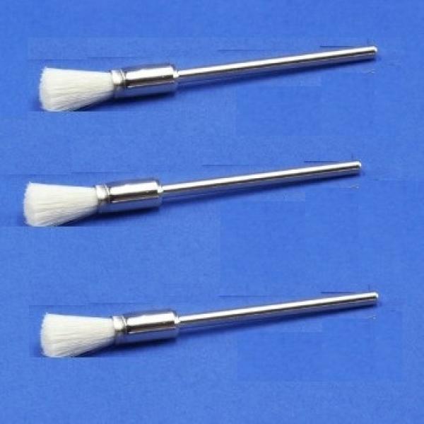 Miniatur-Pinsel, Ziegenhaar, weiss (12er-Pack)