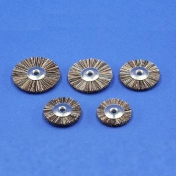 Miniaturbürsten, Roßhaar, unmontiert (6er-Pack)