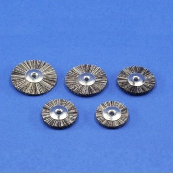 Miniaturbürsten, Ziegenhaar, grau, unmont. (6er-Pack)