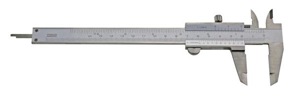 Messschieber für Linkshänder: 0,05-150mm, analog