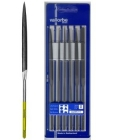 Titanfeilen: Nadelfeilen Set, 6-fach, 180 mm