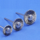 Miniaturbürste, Stahldraht 0,12 mm (6er-Pack)