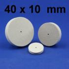 Miniatur-Polierer, Filz, unm. 40 x 10 mm