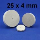 Miniatur-Polierer, Filz, unm. 25 x 4 mm