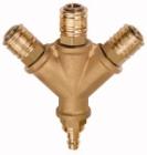 Druckluft: Verteiler mit 3 Schnellverschlusskupplungen NW 7,2