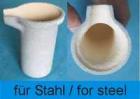 Zubehör MC & VTC 100V: Tiegel für 30cm³ Stahl