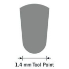 GlenSteel Bollstichel, #14, Ø 1,4 mm