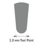 GlenSteel Bollstichel, #10, Ø 1,0 mm