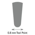 GlenSteel Bollstichel, #8, Ø 0,8 mm