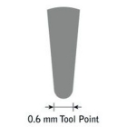 GlenSteel Bollstichel, #6, Ø 0,6 mm