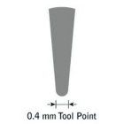 GlenSteel Bollstichel, #2, Ø 0,2 mm