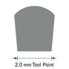 GlenSteel Flachstichel, konisch, #20, Breite 2,0 mm