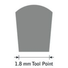 GlenSteel Flachstichel, konisch, #18, Breite 1,8 mm