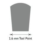 GlenSteel Flachstichel, konisch, #16, Breite 1,6 mm