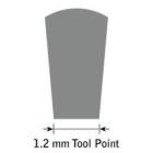 GlenSteel Flachstichel, konisch, #12, Breite 1,2 mm