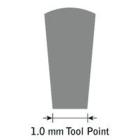 GlenSteel Flachstichel, konisch, #10, Breite 1,0 mm