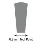 GlenSteel Flachstichel, konisch, #8, Breite 0,8 mm