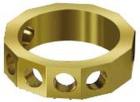 Übungsring, Messing, 12-flächig, mit 6 Löchern für 5 mm Steine