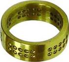 Übungsring, Pavé, Messing, 1,5 mm Löcher für Steine