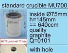 Zubehör MU-Serie: Tiegel mit Grafiteinsatz, 640 cm³