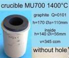 Zubehör MU-Serie: Tiegel mit Grafiteinsatz, 345 cm³