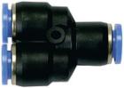 Y-Schnellsteckverbinder für Ø8/6mm Schläuche