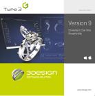 """3DESIGN 3D CAD Software """"Design-Lizenz"""" V9"""